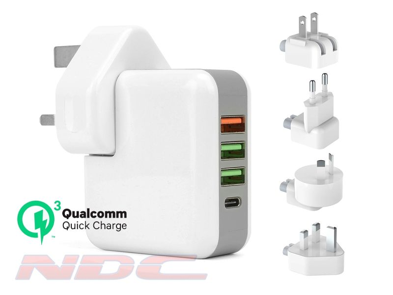 QC 3.0 4-Port Charger