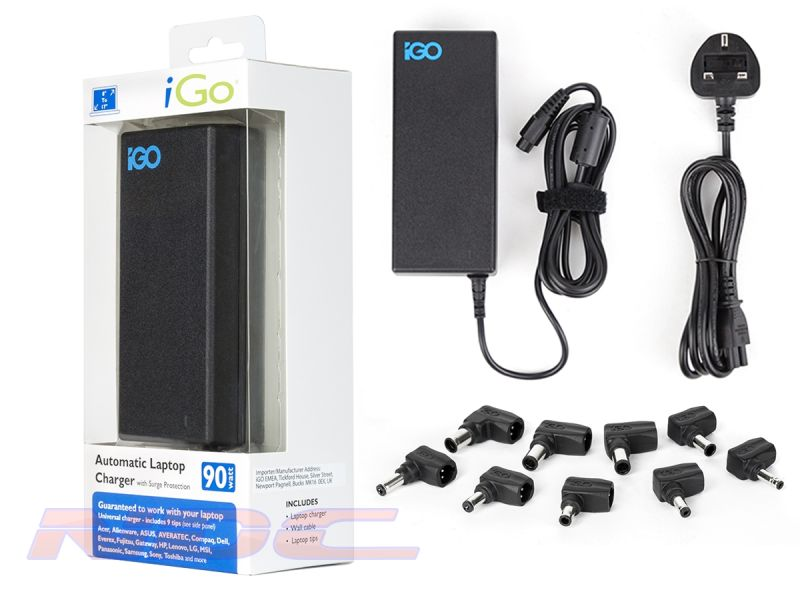 iGo 90W Universal Laptop Charger with Surge Protection