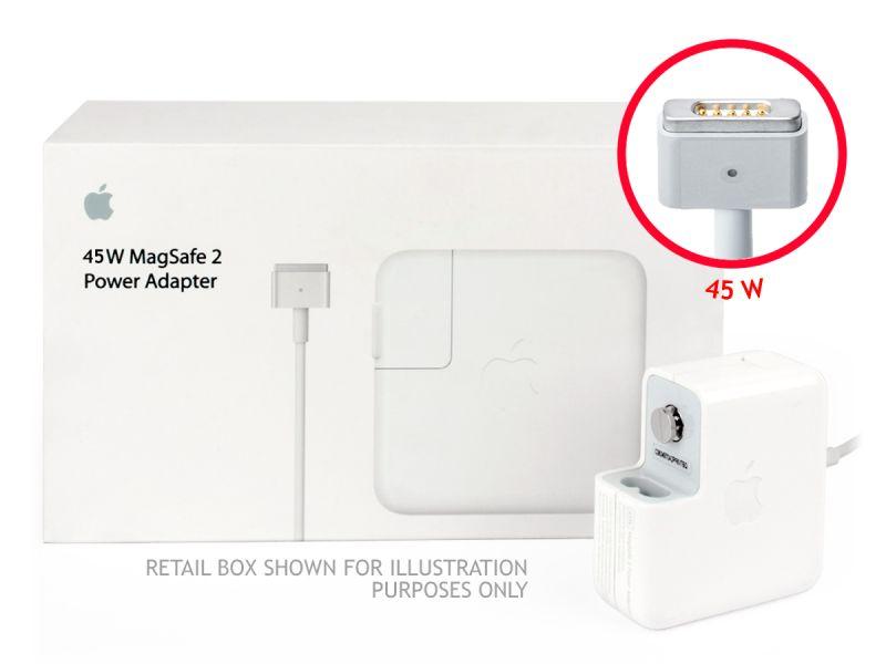 Genuine Apple 45W MagSafe 2 Macbook Air 11/13 UK Block Charger (14.85V/3.05A) - Refurbished