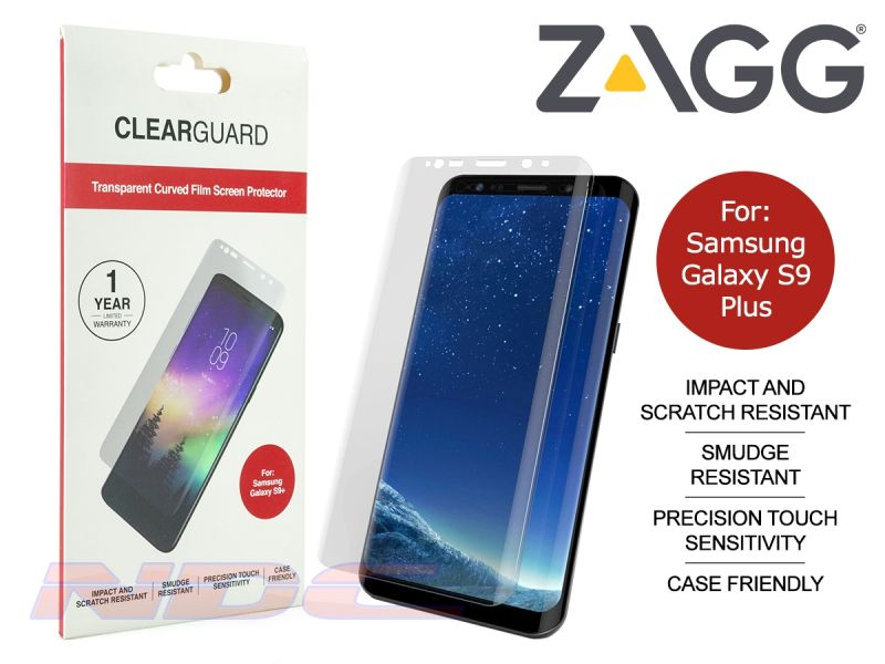 ZAGG ClearGuard Curved PET Screen Protector for Samsung Galaxy S9 Plus