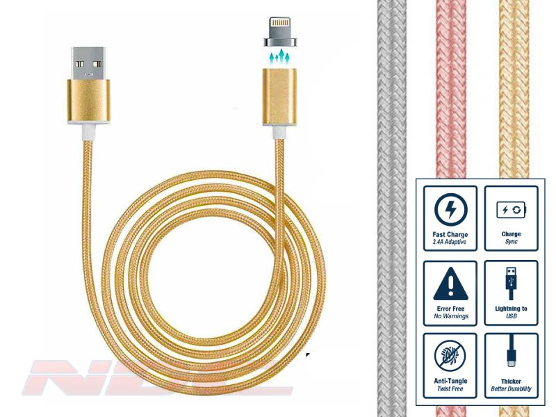 iPhone Magnetic Lightning Cable - Gold