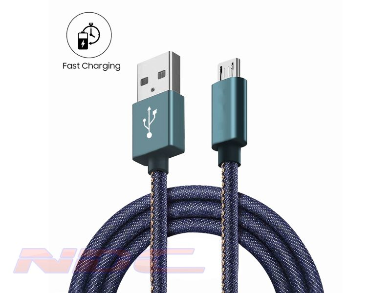 Jean Style USB-A to Micro-USB 1.8m Cable BLUE