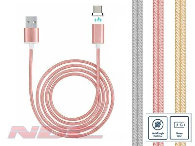 Magnetic Micro-USB 1m Cable Rose GOLD - Standard Charge