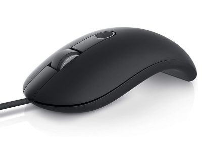 Dell MS819 Wired Mouse with Fingerprint Reader - Black
