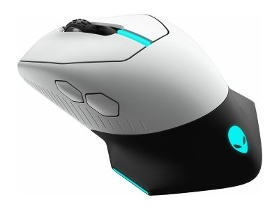 Alienware AW610M Wired/Wireless Mouse - Lunar Light (Refurbished)