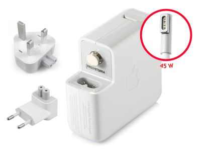 Genuine Apple 45W MagSafe 1 'L' Macbook Air 11/13 UK Block Charger (14.5V/3.1A)