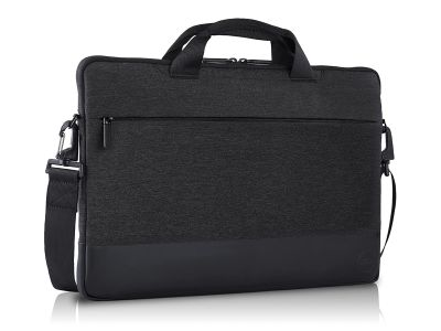 """Stylish protection for your laptop on-the-go Slip your 15"""" laptop into the stylish Dell Pro Sleeve 15 to protect your everyday essentials and electronics wherever your busy day takes you. The professionally chic heather dark grey exterior and plush-lined"""