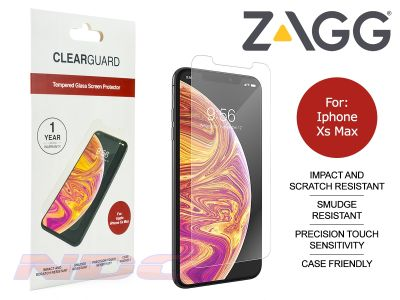 ZAGG ClearGuard Tempered Glass Screen Protector for Apple iPhone Xs Max