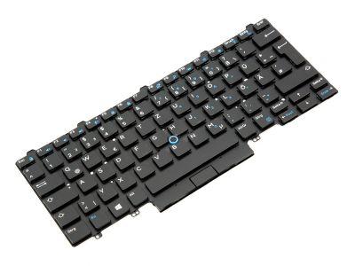 Dell Latitude E7450/E7470/7480/7490 Dual Point GERMAN Backlit Laptop Keyboard - 09FFCM