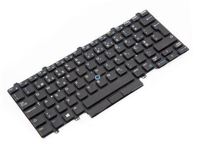 Dell Latitude E7450/E7470/7480/7490 Dual Point PORTUGUESE Backlit Laptop Keyboard - 0TKPTX