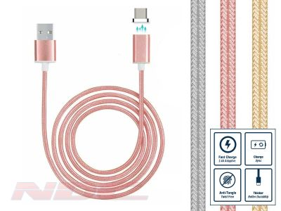 Magnetic USB-C 1m Cable ROSE GOLD