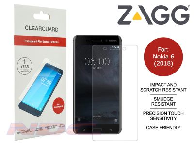ZAGG ClearGuard PET Screen Protector for Nokia 6 (2018)