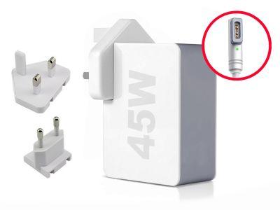 45W MagSafe 1 'L' Macbook Air 11/13 UK+EU Wall Charger (14.5V/3.1A)