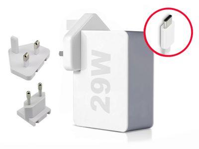 29W USB-C Macbook 12 UK+EU Wall Charger (14.5V/2A)