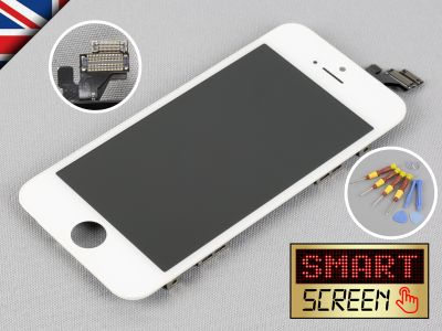 Apple iPhone 5 LCD Touch Screen display Digitizer replacement White + Tool Kit