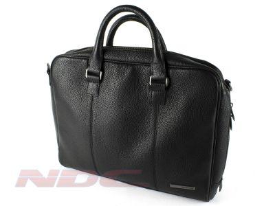 """Genuine Samsonite 14.1"""" 100% Cowhide Leather Laptop Bag Briefcase"""